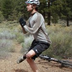 hip and glute stretch for cyclists and mountain bikers photo