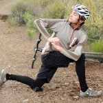 kneeling twist to release spine for cyclists