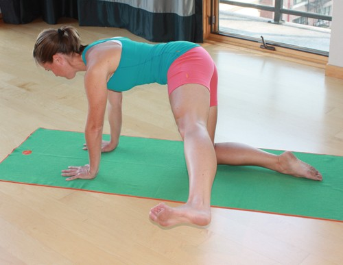 yoga for cylists-plank swing stage 2